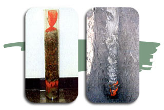 2 images of bentonite chub